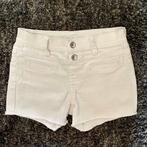 Justice Premium White Jeans Shorts